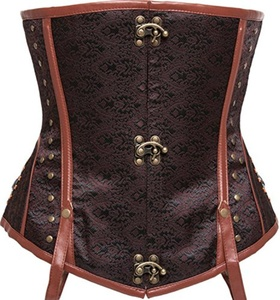 LPTA066-Brown Steel Boned Corset Steampunk Women's Clothing Plus Size Corsets and Bustiers And Corsets Bustiers Waist Gothic Of Training