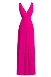Dora Bridal Women´s A Line V-Neck Chiffon Long Bridesmaid Dresses Prom Gowns US20W Fuchsia