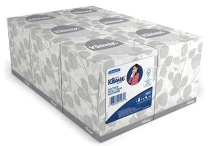 Kleenex - White Facial Tissue, 2-Ply, Pop-Up Box, 95/Box - 6 Boxes/Pack -Set of 2