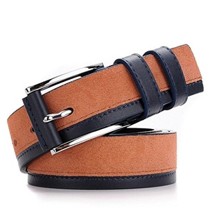 XiaoStone Alloy Needle Buckle Suede Business Genuine Leather Belt Women And Men