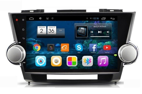 ZNYSTAR 10.2 Touch Screen Car Stereo Navigation System Car GPS Navigation with Radio Bluetooth RDS Car Radio for Toyota Highlander (2009-2014)