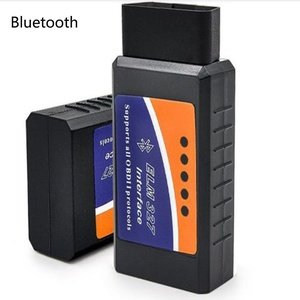 TRADERPLUS Bluetooth Wireless OBD-II Mini ELM327 OBD2 Auto Car Diagnostic Scanner Tool Adapter Reader Scan Code Tester for iPhone 6S 5 iPad4 iPod mini IOS PC Windows, Android Device