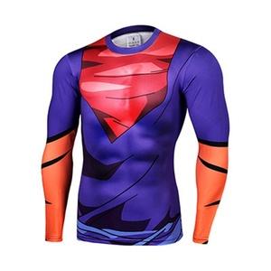 Cartoon DragonBall Son Goku Super Saiya Cosplay Marvel Costume Slim Fit 3D Shirt (Asian-XL)