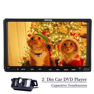 Reverse Camera + 7''inch HD Multi-Touch Sliding Screen Autoradio Bluetooth Capacitive Stereo system In Dash Remote Control FM/AM/RDS Radio Receiver 2 DIN Car DVD Player USB/SD/AUX + 8GB Card & Touch P