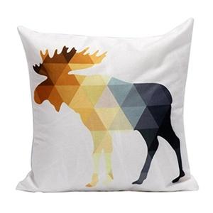 Iuhan Fashion Christmas Deer Pillow Case Sofa Waist Throw Cushion Cover Home Decor (B)