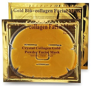 Crystal Gold Collagen Face Facial Mask Bio - Powder Anti Wrinkle Moisture Premium Skin Care Patch Pad with Lavender Essential Oil, Collagen, Haluronic acid (x5 Collagen Masks) by L' Revolution Beauty