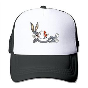 Adults Bugs Bunny Flat Peaked Cap Baseball Cap Sun Mesh Hats