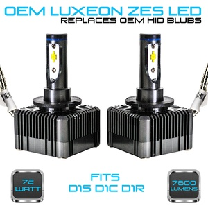 Stark 72W 7600LM Headlight LED Canbus Conversion Kit 6000K White Replace OEM HID Xenon Bulbs - D1S D1R D1C