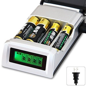 LCD 4 Slot Battery Charger For AA / AAA Ni-MH / Ni-Cd Rechargeable Batteries