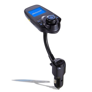 Hands-Free Car Kit Wireless In-Car Bluetooth FM Transmitter, Pretty Handy Bluetooth Car Kit Radio Adapter USB Car Charger with Display