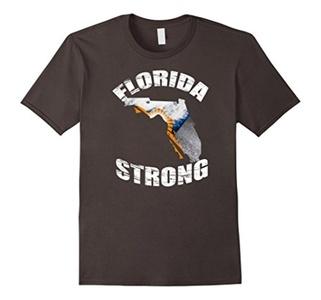 Men's Florida Strong T Shirt Support Medium Asphalt