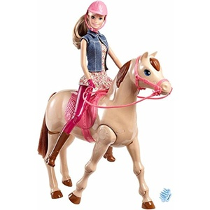 Ride Off Into Adventure With This Barbie Doll And Horse Set Saddle N Ride Horse