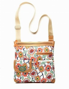 Lily Bloom Christy Large Crossbody Shoulder Bag, Retro Bloom