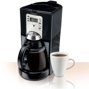 Mr. Coffee FTX Series 12-Cup Programmable Coffeemaker, FTX43-2NP, Black, Brew strength selector