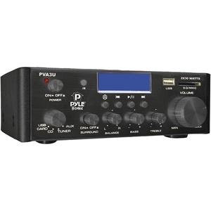 PYLE HOME PVA3U 60-Watt Hi-Fi Mini Amp with USB/SD(TM) Card Player
