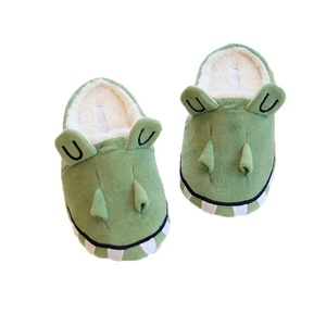 Honeystore Unisex Leisure Slippers Anti-slip Sole Cute Animal House Slippers Crocodiles Green M