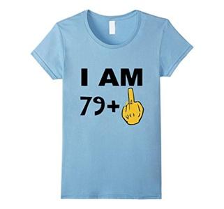 Women's I Am 49 + Funny 50th Birthday T-Shirt Medium Baby Blue
