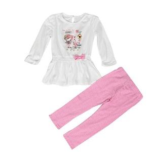 Creazy 1Set Infant Baby Kids Girls Print T-shirt Tops+Pants Outfits Children Clothes (12M)