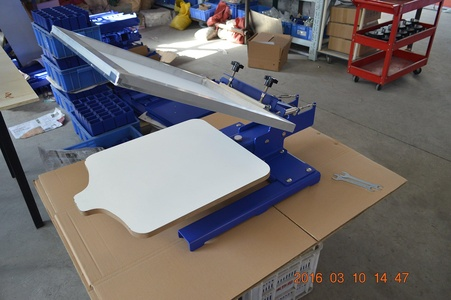 Single Color One Color Screen Printing Equipment Frame Incline 30° Machine Press (Item#219004)