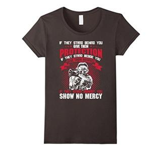 Women's Show No Mercy T-Shirt Large Asphalt