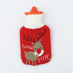 Merging®Reindeer Hot Water Bottle Kids Hot Water Bag with Animal Knitting Cover
