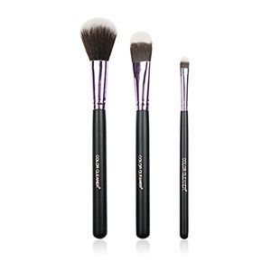 Foundation Makeup Brush + Blush Brush + Eyeshadow Brush, Professional Portable Makeup Brush Set Makeup Tools Cosmetic Brush Foundation Cream Powder Blush Blending Face Eye Brush Kit Sets (3Pcs)