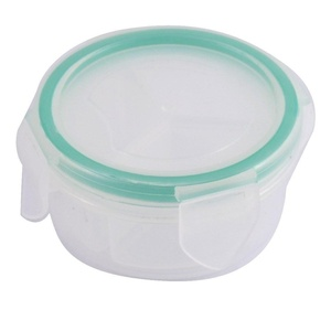 uxcell® Plastic Round Shaped 3 Slots Pill Tablet Capsules Storage Case Box Holder Clear