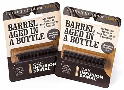 2 Pack - Barrel Aged in a Bottle Oak Infusion Spiral. Barrel Age Your Whiskey - Bourbon - Wine - Favorite Alcohol in Days, Improve the Flavor and Looks with the Oak Infusion Spiral by Oak Infusion Spiral
