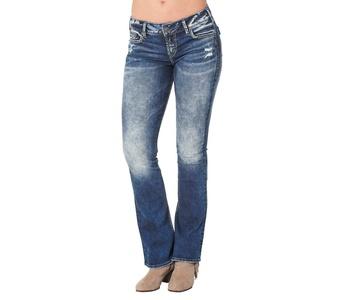 Silver Jeans Women's Elyse Mid Rise Bootcut Jean