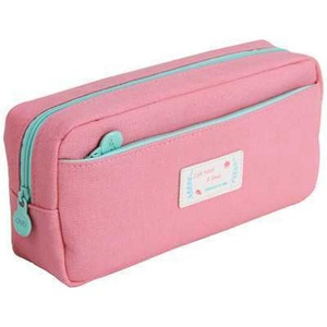 SAMGU Large Capacity Students Pencil Stationery Pouch Bags Canvas Pen Bag Pencil Case - pink