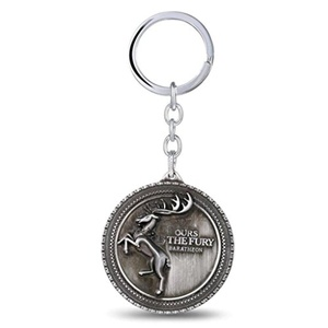 Game of Thrones House Baratheon Badge Keychain - Silver Color