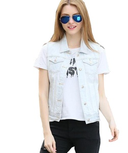 Only Faith Womens Denim Vests Sleeveless Jeans Tops With pockets (M)