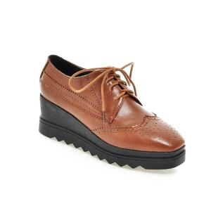 AIWEIYi Womens Shoes Classic Lace Up Dress Low Flat Heel Oxford