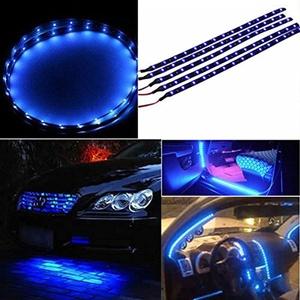 30cm Waterproof 15 Blue LED Car Vehicle Motor Grill Flexible Light Strips