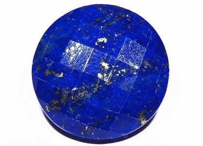 18.25ct Faceted Lapis Beautiful Blue Untreated Natural Cut Gemstone Healing Crystal