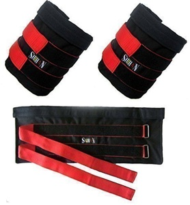 ORIGINAL Shihan Ankle Weights Pouch sold without Weights 10kg Adjustable, Ankle Leg Weights, Athletic, Gym Training Ankle Weights (Men/Women by ANKLE WEIGHTS SHIHAN