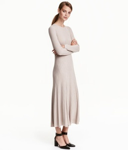 Light Taupe Knit Dress