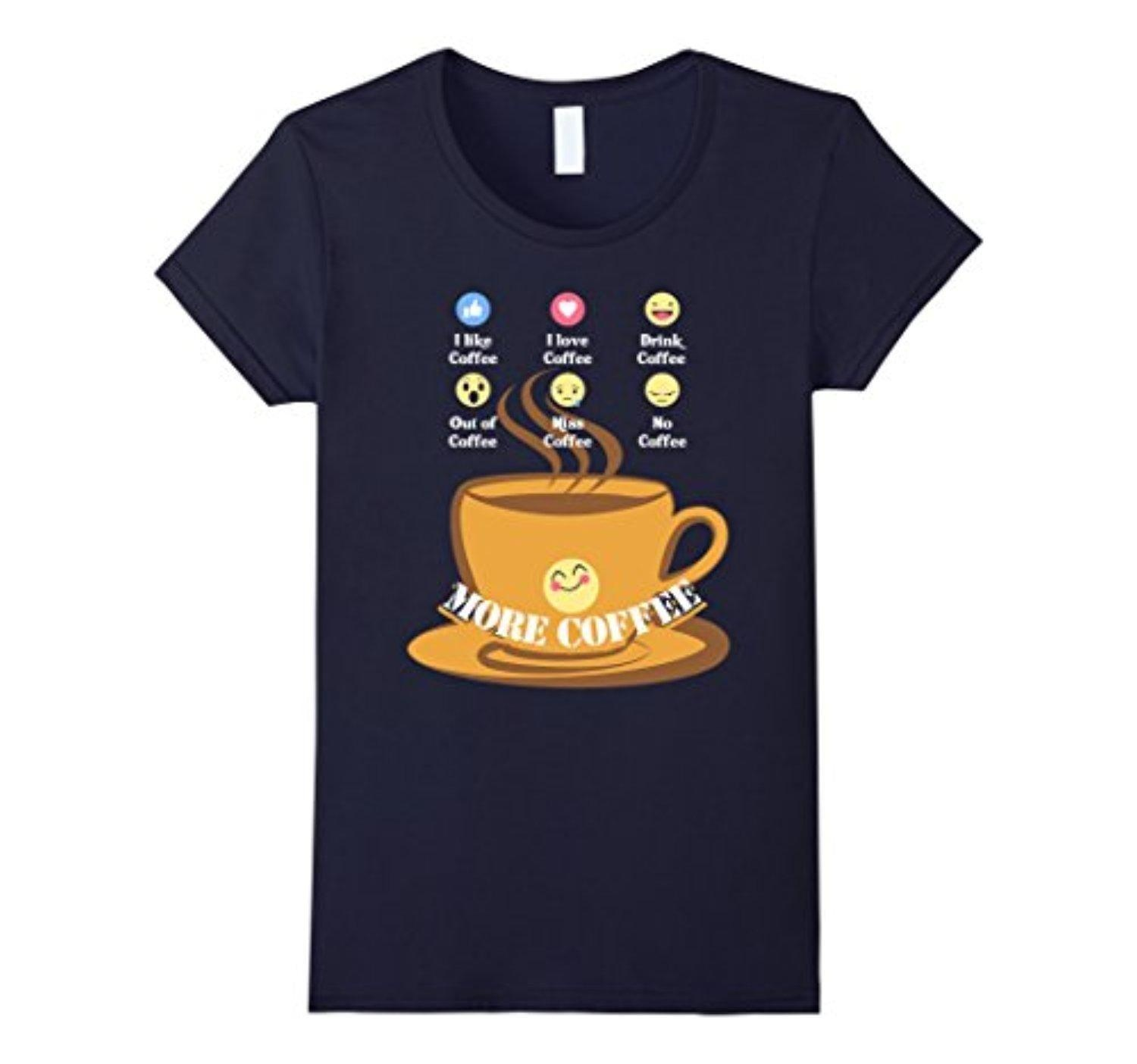 Online Store Womens Funny Coffee Lover Birthday Gift T Shirts Emoji Love Xl Navy