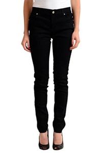Versace Jeans Black Embellished Straight Leg Women's Jeans US 8 IT 30;