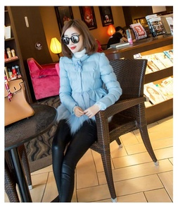 Fashion Womens Short Fur Cotton Coat Slim Fit Jacket Sweet Outerwear Trench SZ Main Colour:Blue Size:UK XS = Asian M