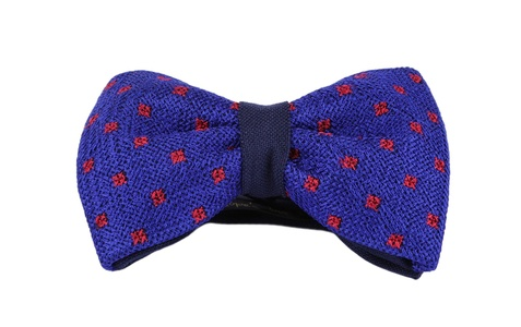 Stitched Blue & Red Bow Tie from Penelope`s Bow Ties