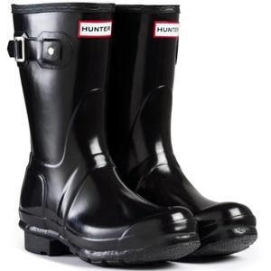 Hunter Original Short Gloss Black Womens Boots