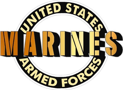 United States Armed Forces Marines Vehicle Decal