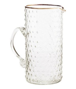 Hm Textured Glass Pitcher