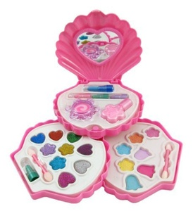 Petite Girls Clam Shell Shaped Cosmetics Play Set - Fashion Makeup Kit for Kids by Cosmetics Set