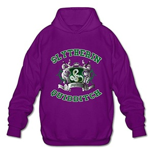 NUBIA Men's Harry Slytherin Quidditch Potter Fashion Hooded Purple S