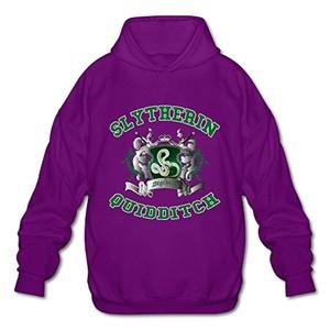NUBIA Men's Harry Slytherin Quidditch Potter Fashion Hoodie Purple M