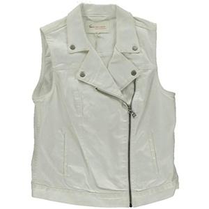 Two by Vince Camuto Womens Denim Asymmetrical Denim Vest