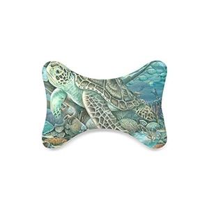Fashion Custom Turtle art Bone Shape Car Seat Neck Rest Custom Car Neck Pillow/Cushion Head Support Neck Support Pillow