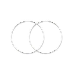 .925 Sterling Silver 50 MM Classic Endless Hoop Earrings